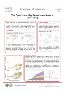 The OpenStreetMap Evolution of Austria (2007–2011)
