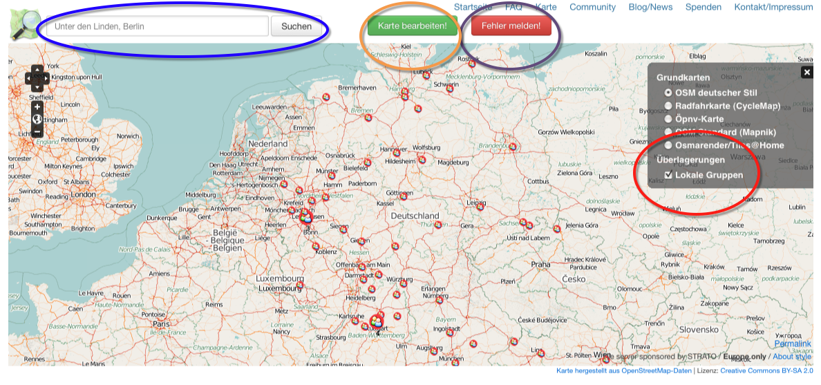 New OpenStreetMap Germany Webpage : Neis One!