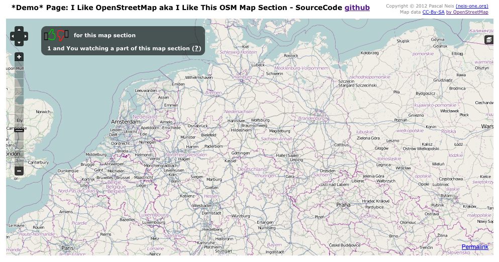I Like OpenStreetMap (OpenLayers Plugin) : Neis One!